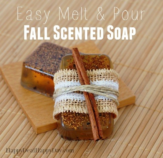 easy melt pour fall scented soap make 12 bars in a hour , cleaning tips, crafts, seasonal holiday decor