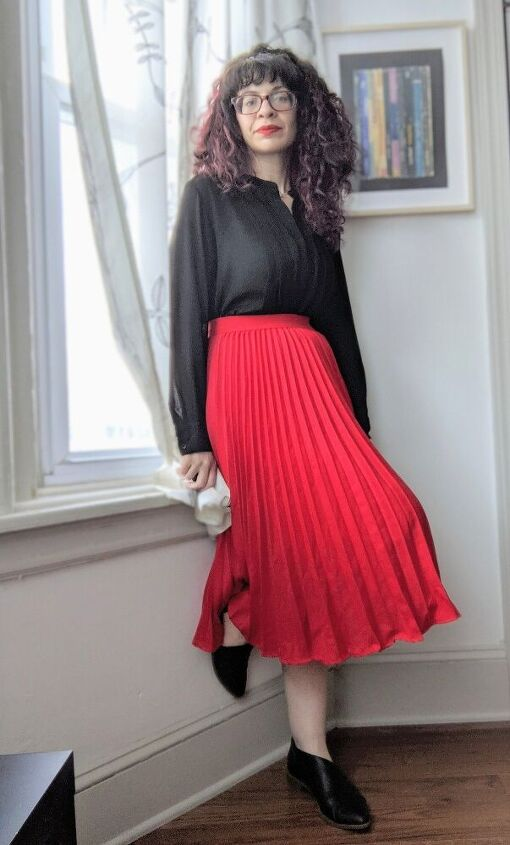 how to style red for the bold and the meek