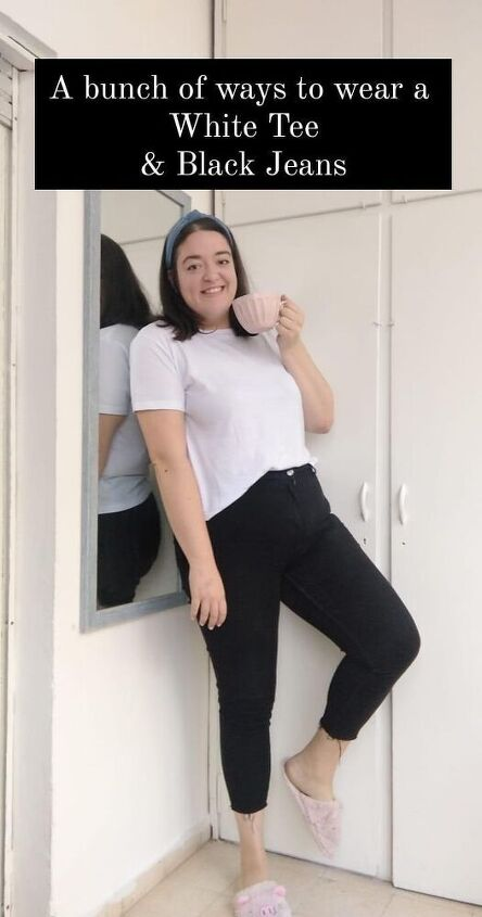 5 ways to wear a white tee and black jeans