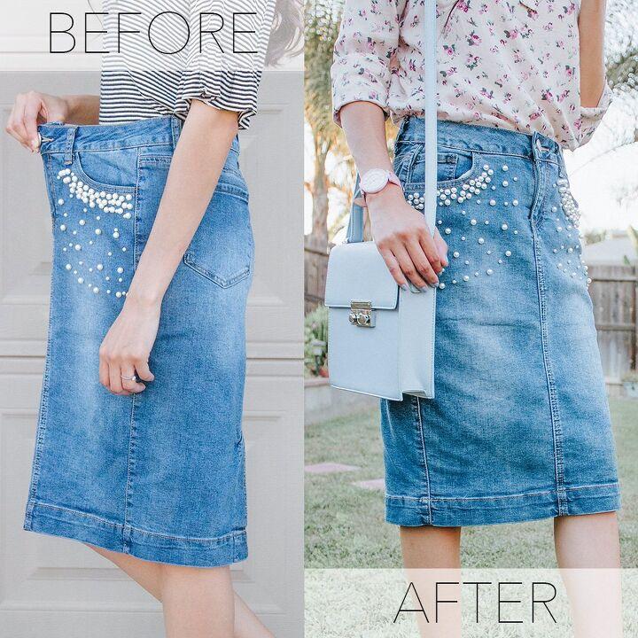 how to alter a denim skirt waistband how to fix a denim skirt that s