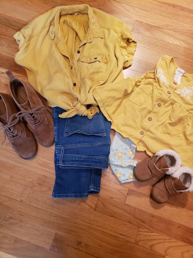 mustard yellow and fall weather for me and mini