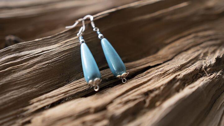 long iridescent drop earrings