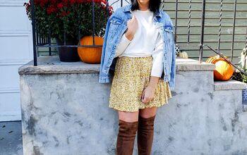 One Mini Skirt - 5 Ways! (Looks for All Seasons)