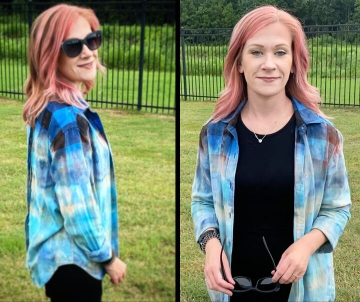 how to level up a bleached flannel with tie dye