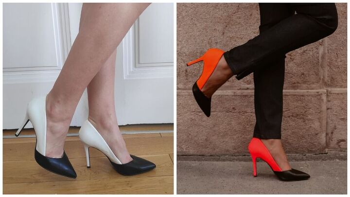 how to turn basic heels to trendy neon