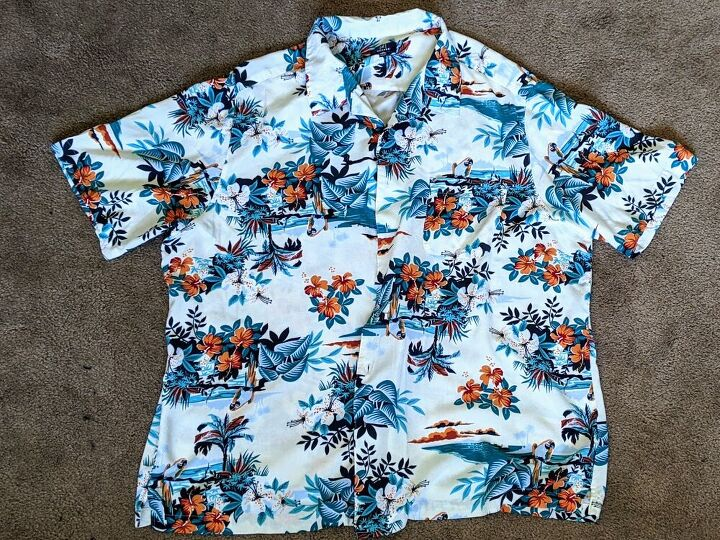 be ready for hawaiian shirt day with this cute refashion