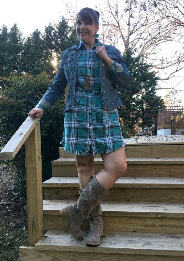 three ways to style a shirt dress