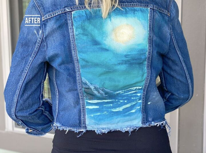 how to customize a thrifted denim jacket with no painting experience