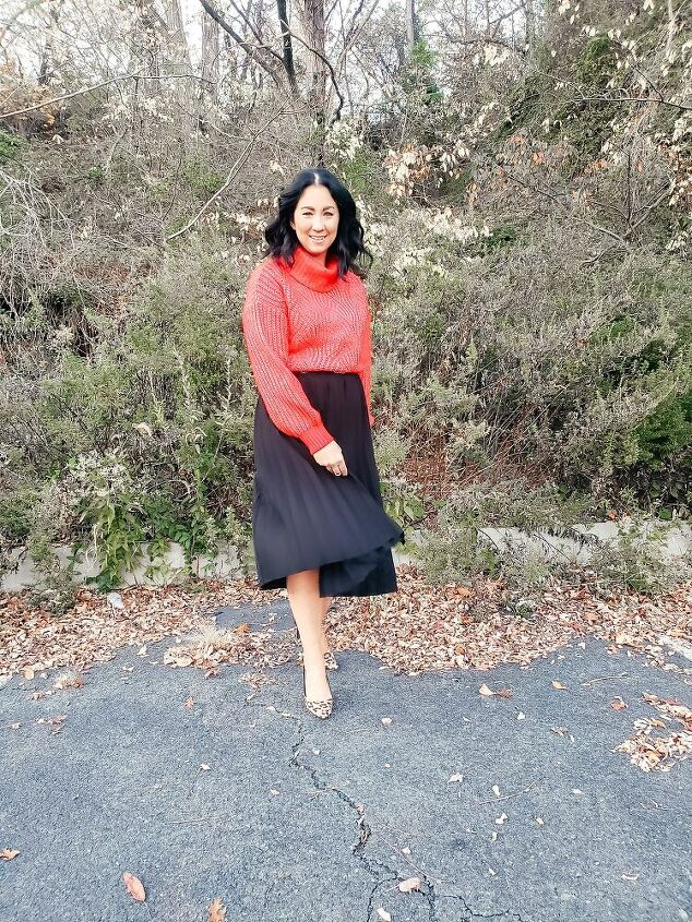 one midi skirt 5 ways perfect for the holidays