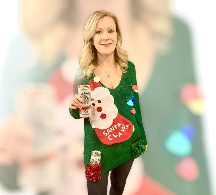 how to turn any sweater into a lighted ugly sweater