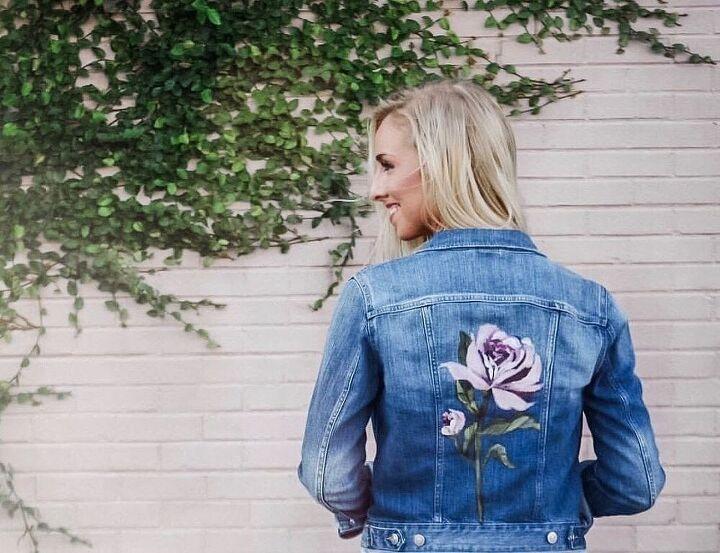 jean jacket, Painted denim jacket