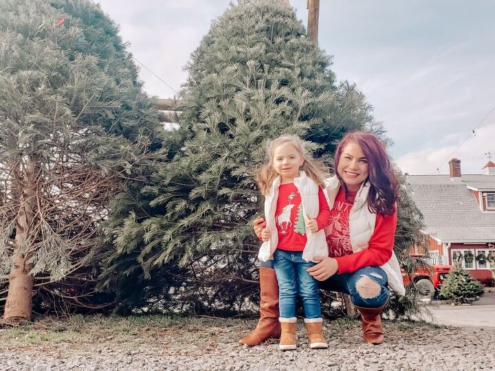 christmas tree shopping outfits four ways