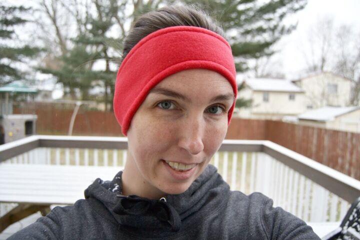 fleece ear warmer headband tutorial