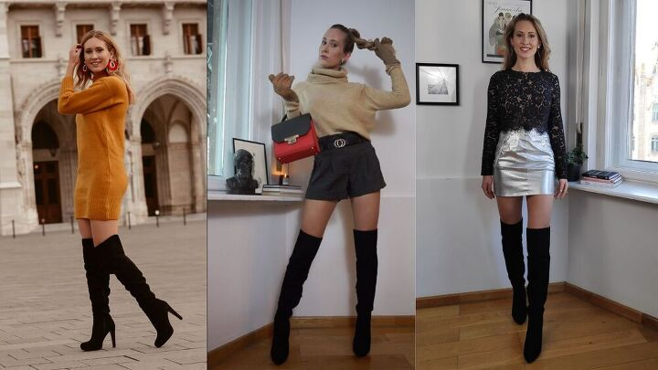 how to style high knee boots this winter
