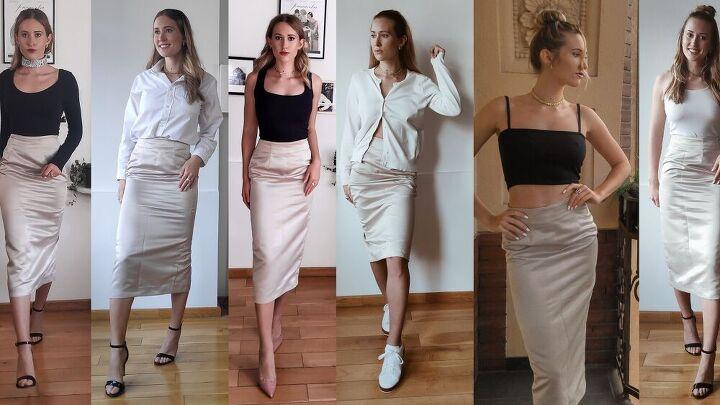 wear 1 satin skirt 6 ways