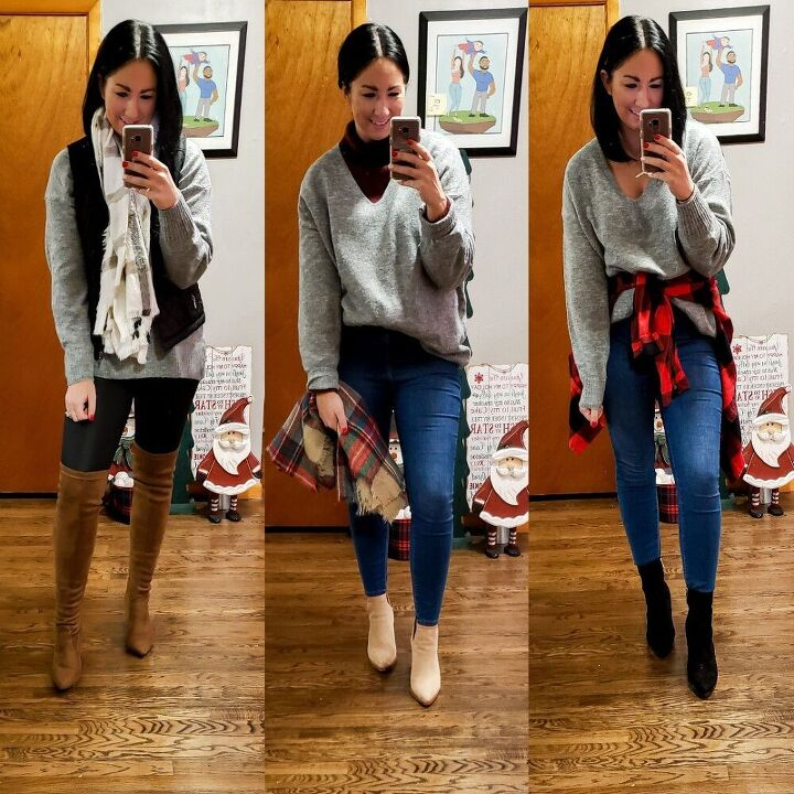 oversized sweater 5 ways for winter