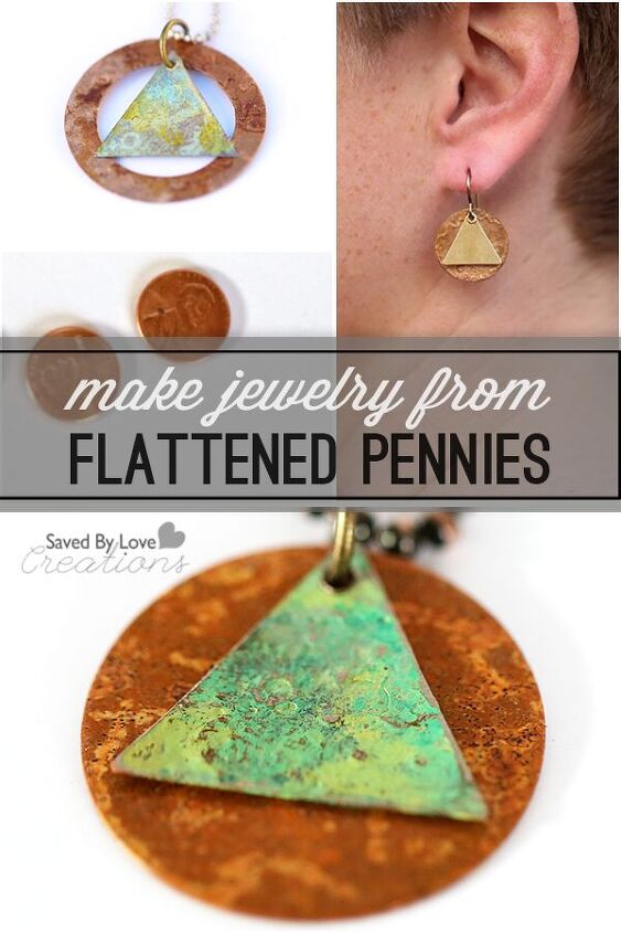 how to make jewelry from flattened pennies