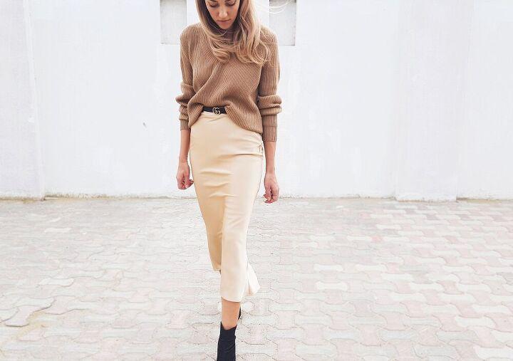 trends bias cut silk slip skirt