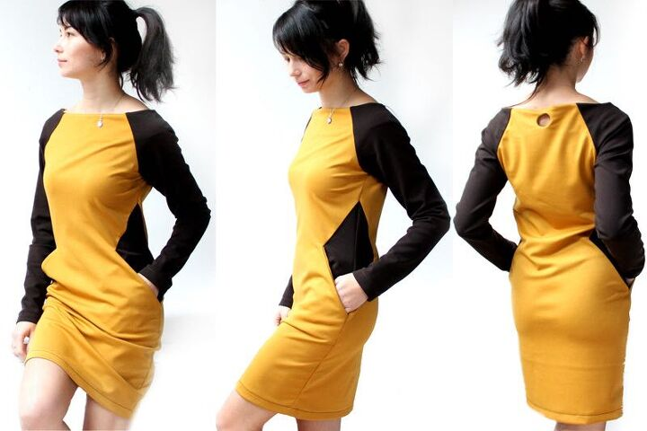 how to sew women s dress silhouette with a slimming effect