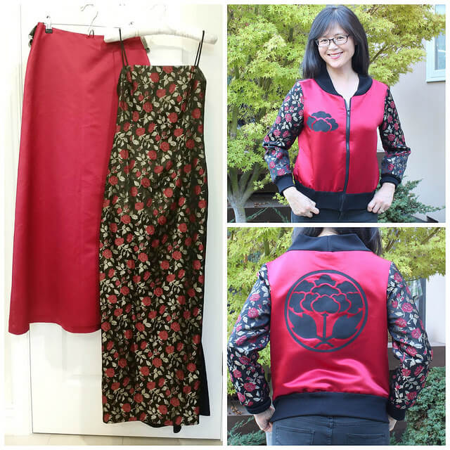 how to refashion a prom dress to bomber jacket