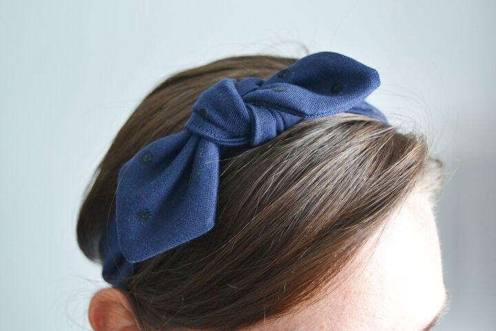 diy knotted headband super quick tutorial