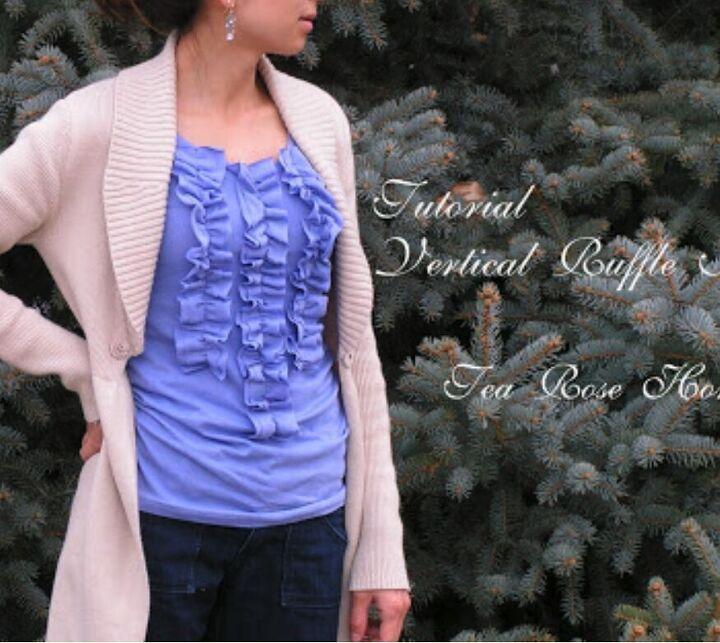 tutorial ruffle shirt why not vertical