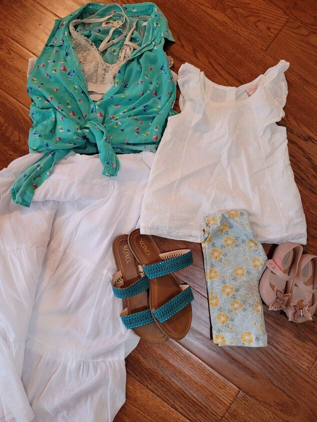 three white vaca inspired outfits for me an mini mix match