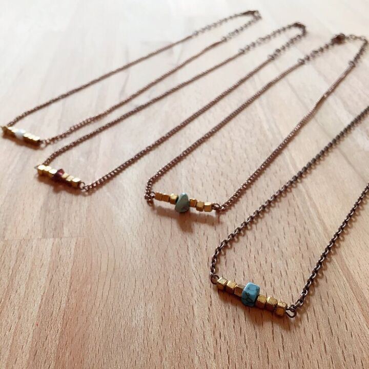 beaded bar necklace diy