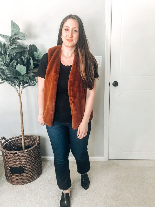 4 ways to style a faux fur vest