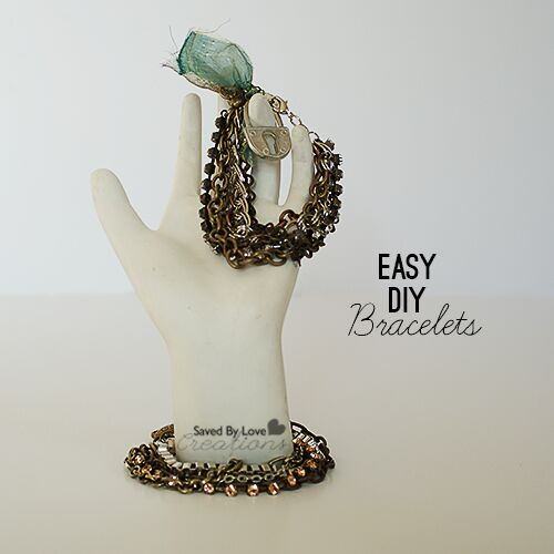 easy 10 minute chain bracelet tutorial