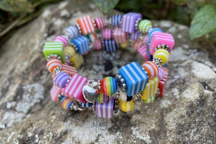 licorice allsorts bracelet tutorial