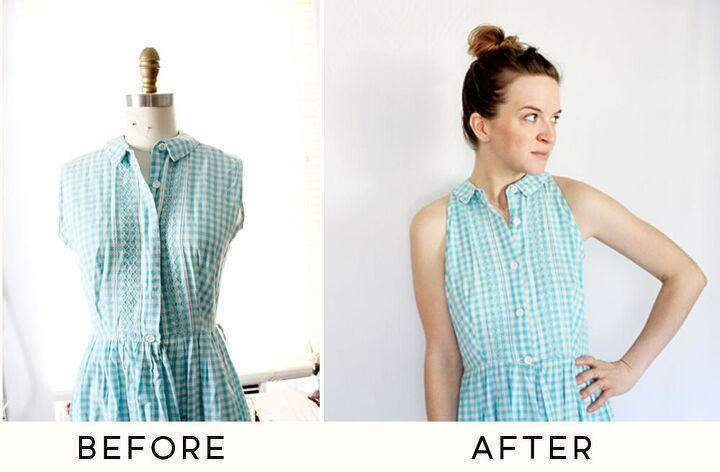 a simple vintage dress alteration