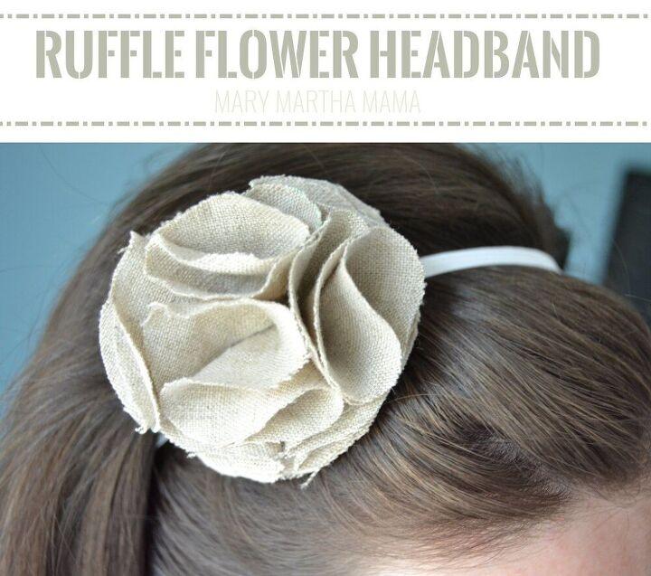 ruffle flower headband tutorial