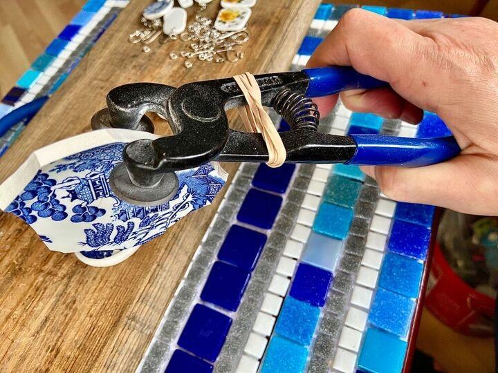 Cutting china plate