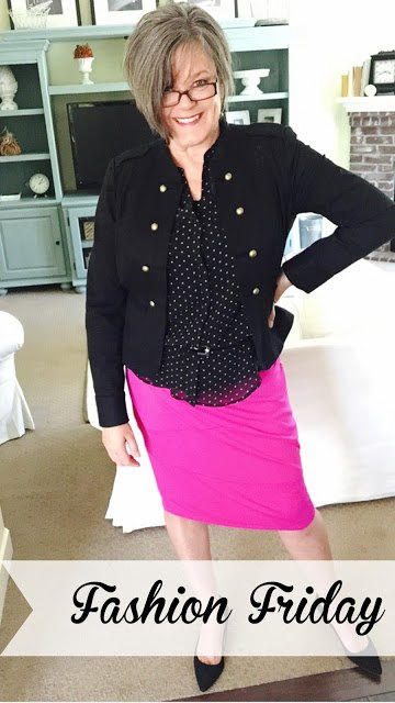 fashion friday fitted black jacket to lengthen short torso