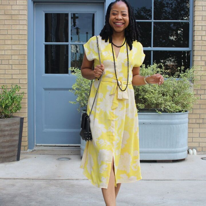 how to style a button down wrap dress