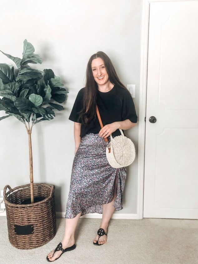 ways to style a floral skirt for spring