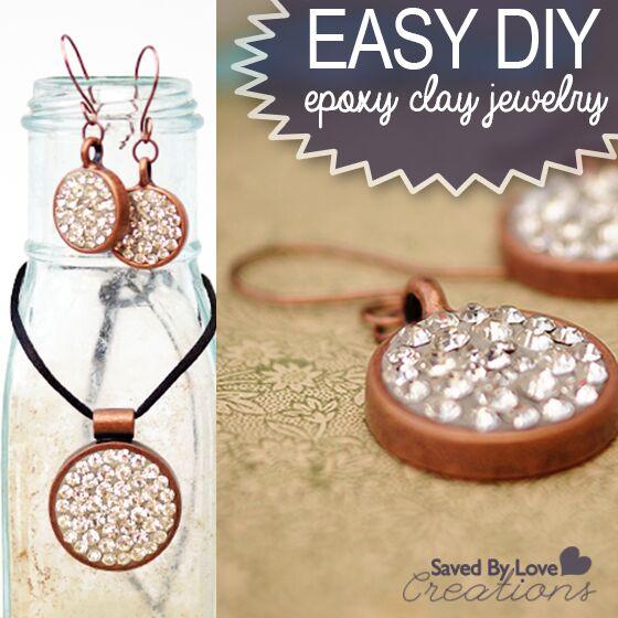 easily make gorgeous epoxy clay crystal jewelry