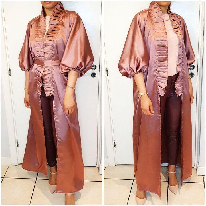 how to make a kimono open abaya