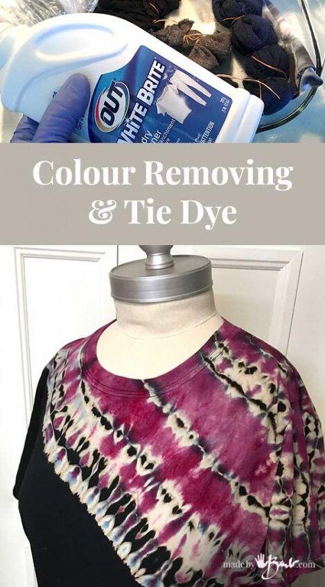 colour removing tie dye