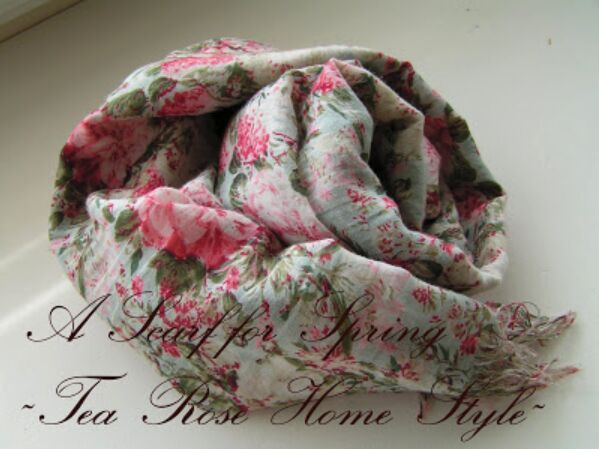 a scarf for spring tea rose home style