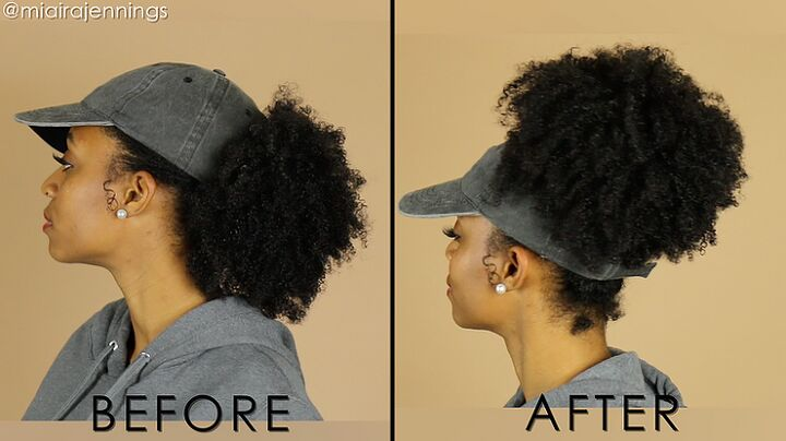 diy backless satin lined hat for natural hair