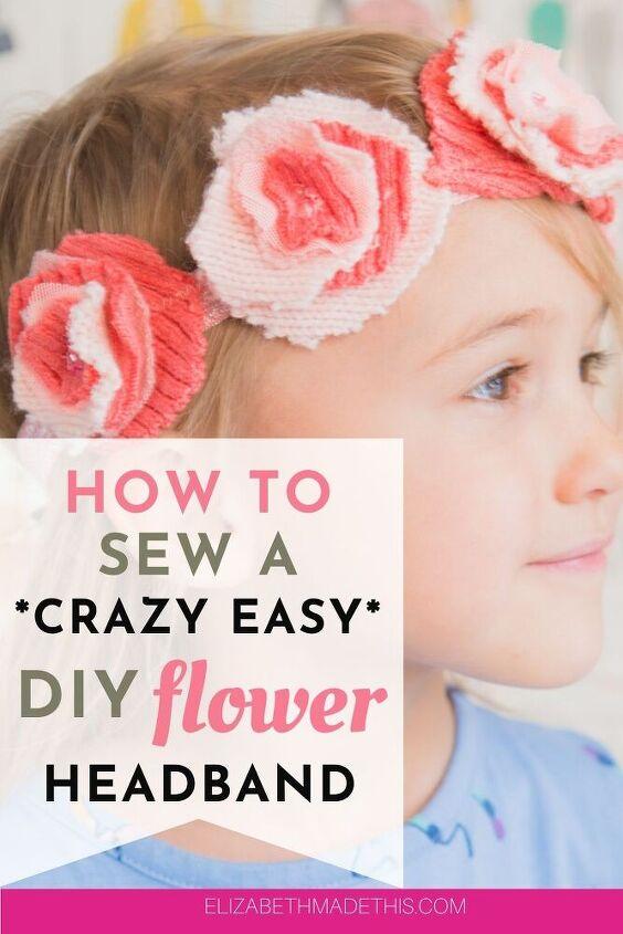 springy diy how to make fabric flower headbands