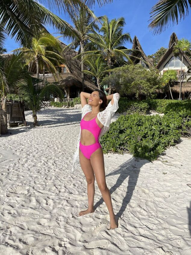 one piece pink swimsuit under 25