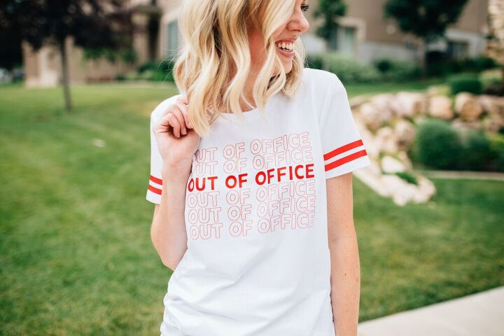 diy out of office t shirt