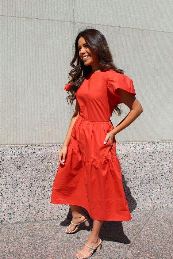 short sleeve a line summer dress