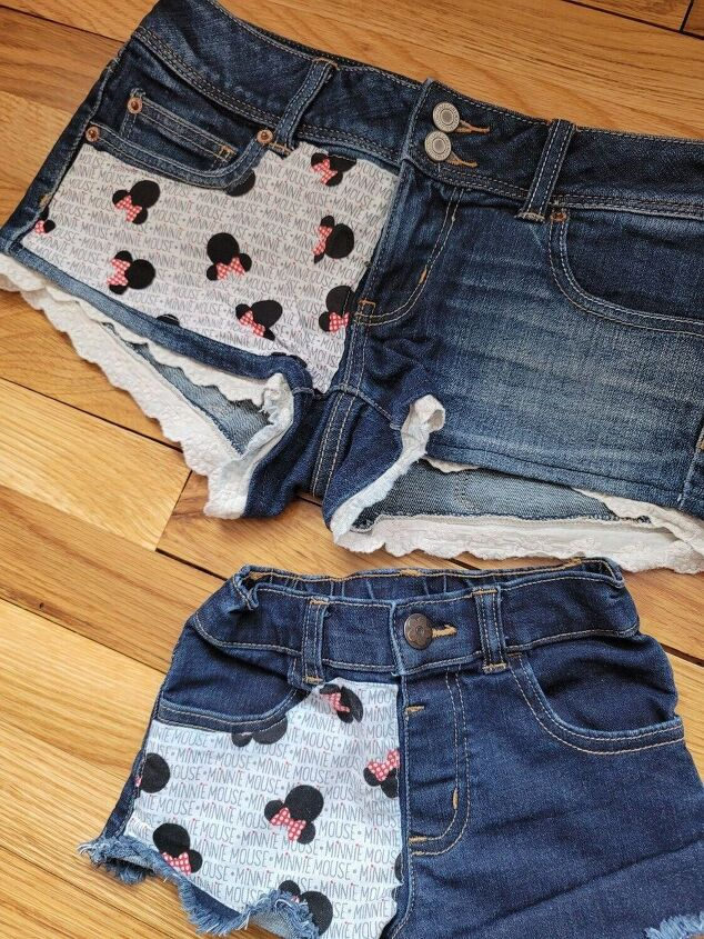 how i made matching disney ready shorts for me and mini