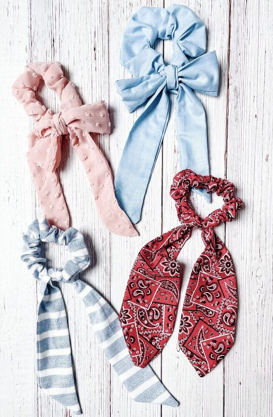 the diy anthropologie inspired scarf bow scrunchie