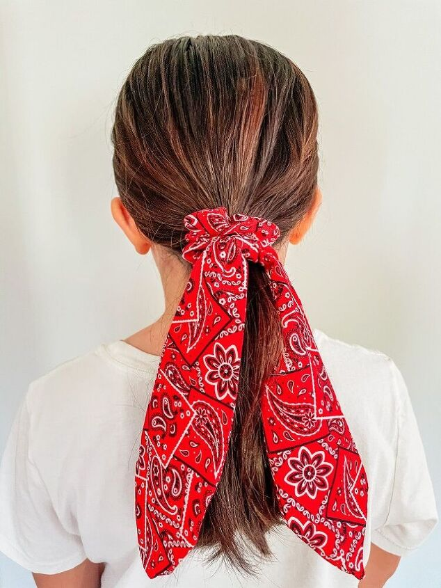 7 easy ways to style a scarf scrunchie