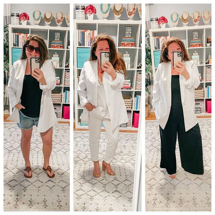 how to style a white blazer